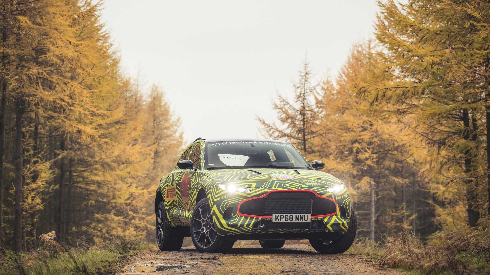 Aston Martin DBX SUV Shown by Prototype, Hybrid Power Coming