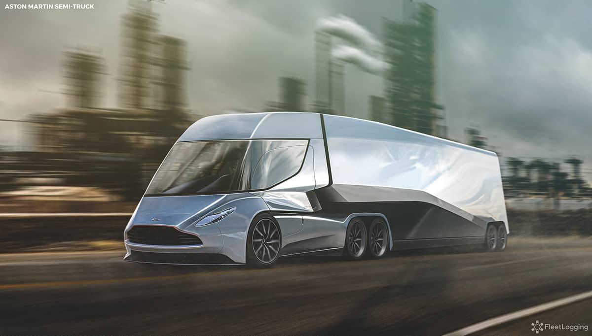 Aston Martin Semi Truck Is As Sleek As An Overgrown Valkyrie Autoevolution