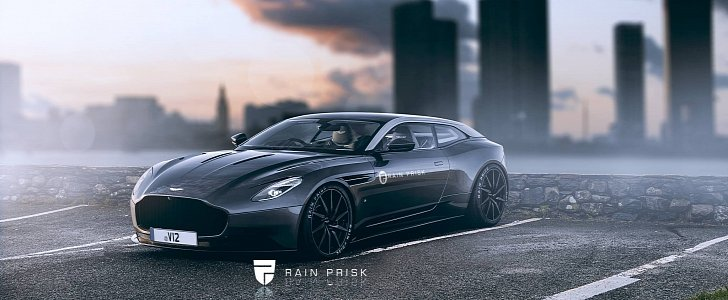 Aston Martin Shooting Brake Rendered, the Ferrari GTC4Lusso Rival We Need