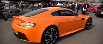 Aston Martin V12 Vantage Looks Stunning in Orange [Video]