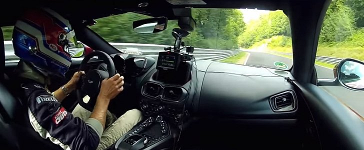 Aston Martin V8 Vantage Laps the Nurburgring Nordschleife in 7:43.92 - autoevolution