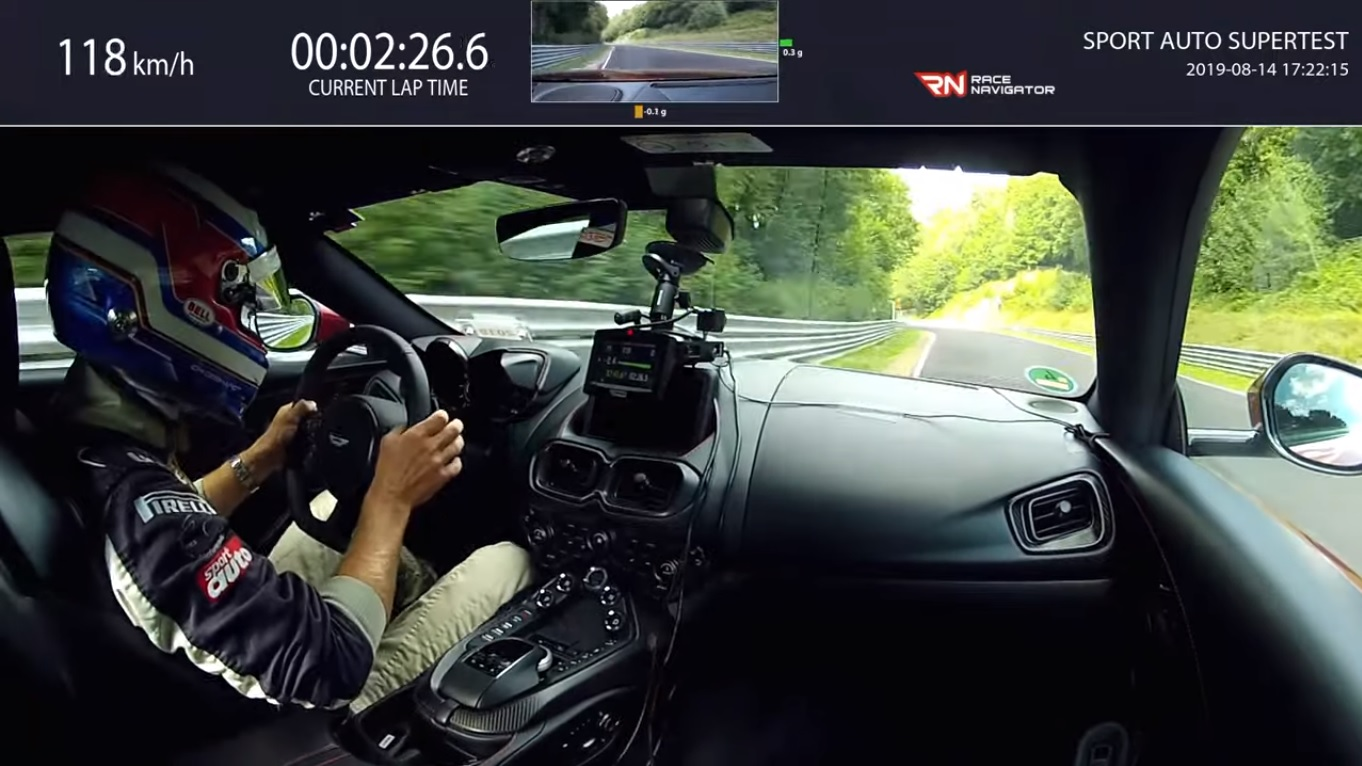 Aston Martin V8 Vantage Laps The Nurburgring Nordschleife In 7 43 92 Autoevolution