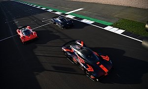 Aston Martin Valkyrie Hits the Track in Packs of Three