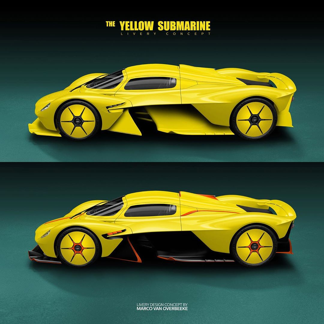 "Aston Martin Valkyrie ""Yellow Submarine"" Is A Stunning"