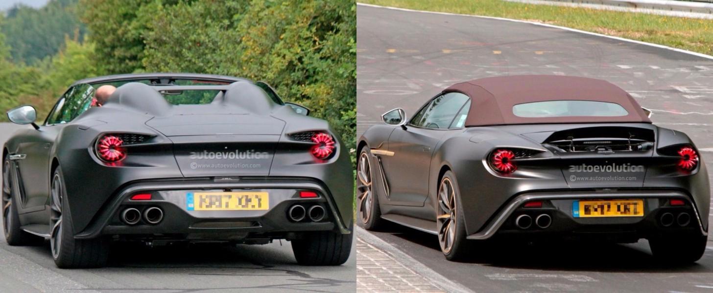 Spyshots Aston Martin Vanquish Zagato Speedster And Volante At The Nurburgring Autoevolution