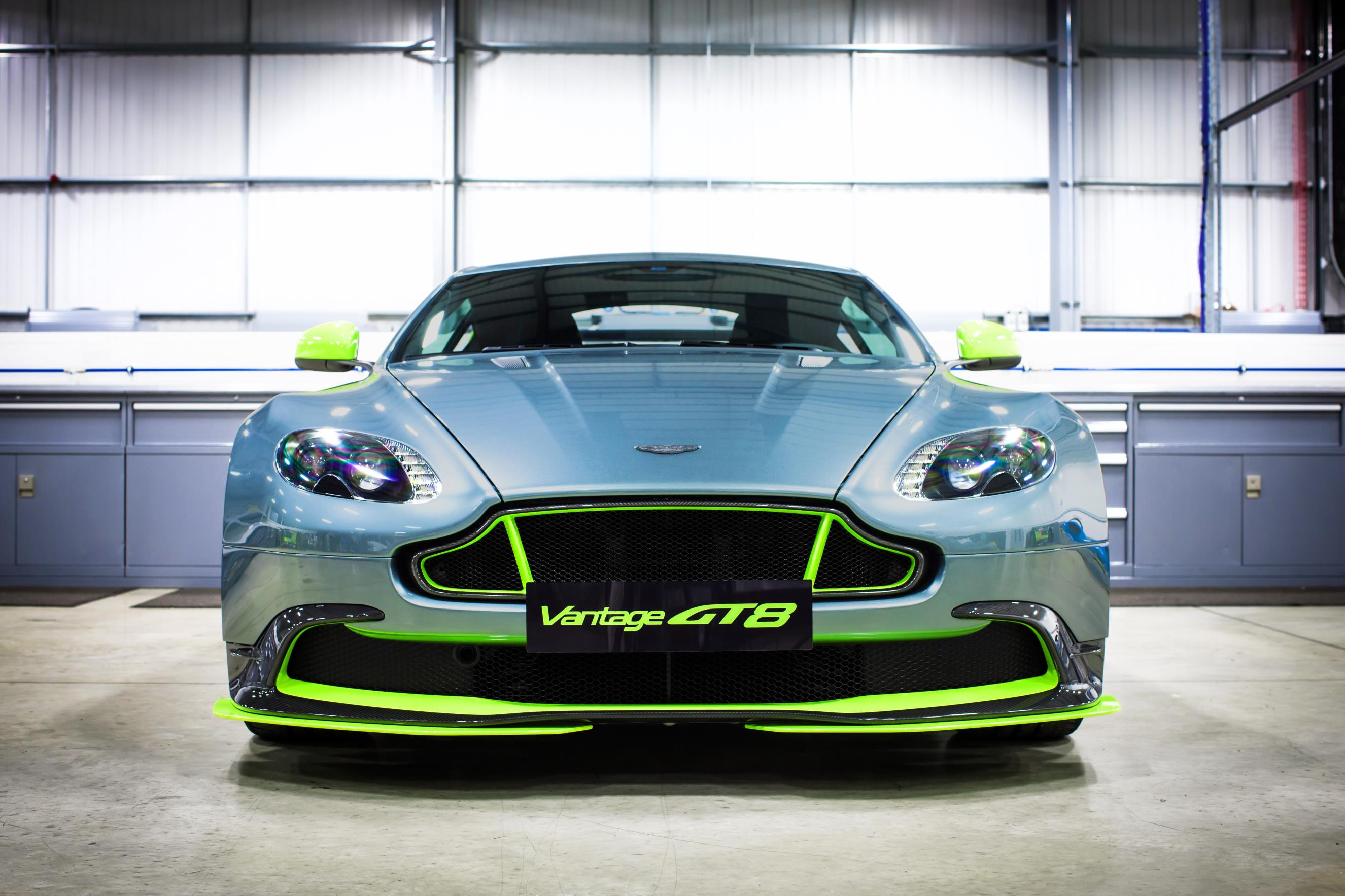 aston martin vantage gt8 turns the v8 vantage s up a notch