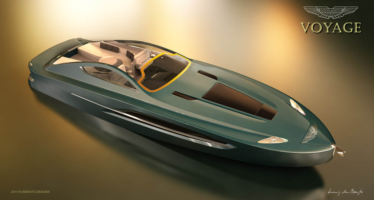 Aston martin voyage 55 39 boat concept revealed autoevolution