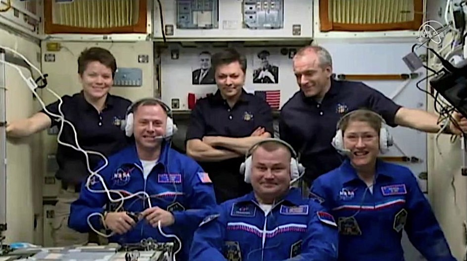 Latest crew arrives at International Space Station