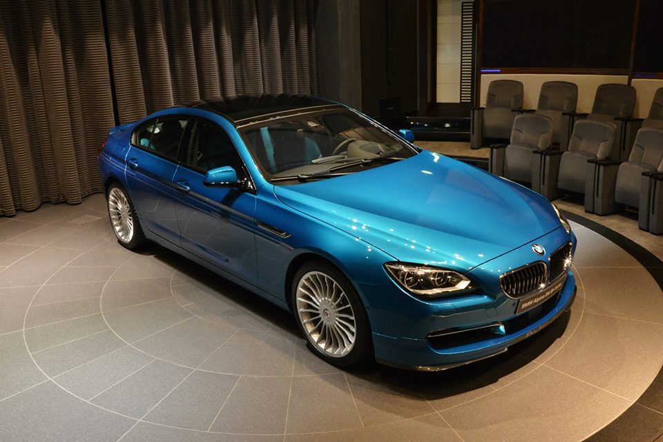 atlantis blue alpina b6 gran coupe with matching interior. Black Bedroom Furniture Sets. Home Design Ideas