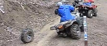 ATV Wheel Comes Off the Funny Way [Video]