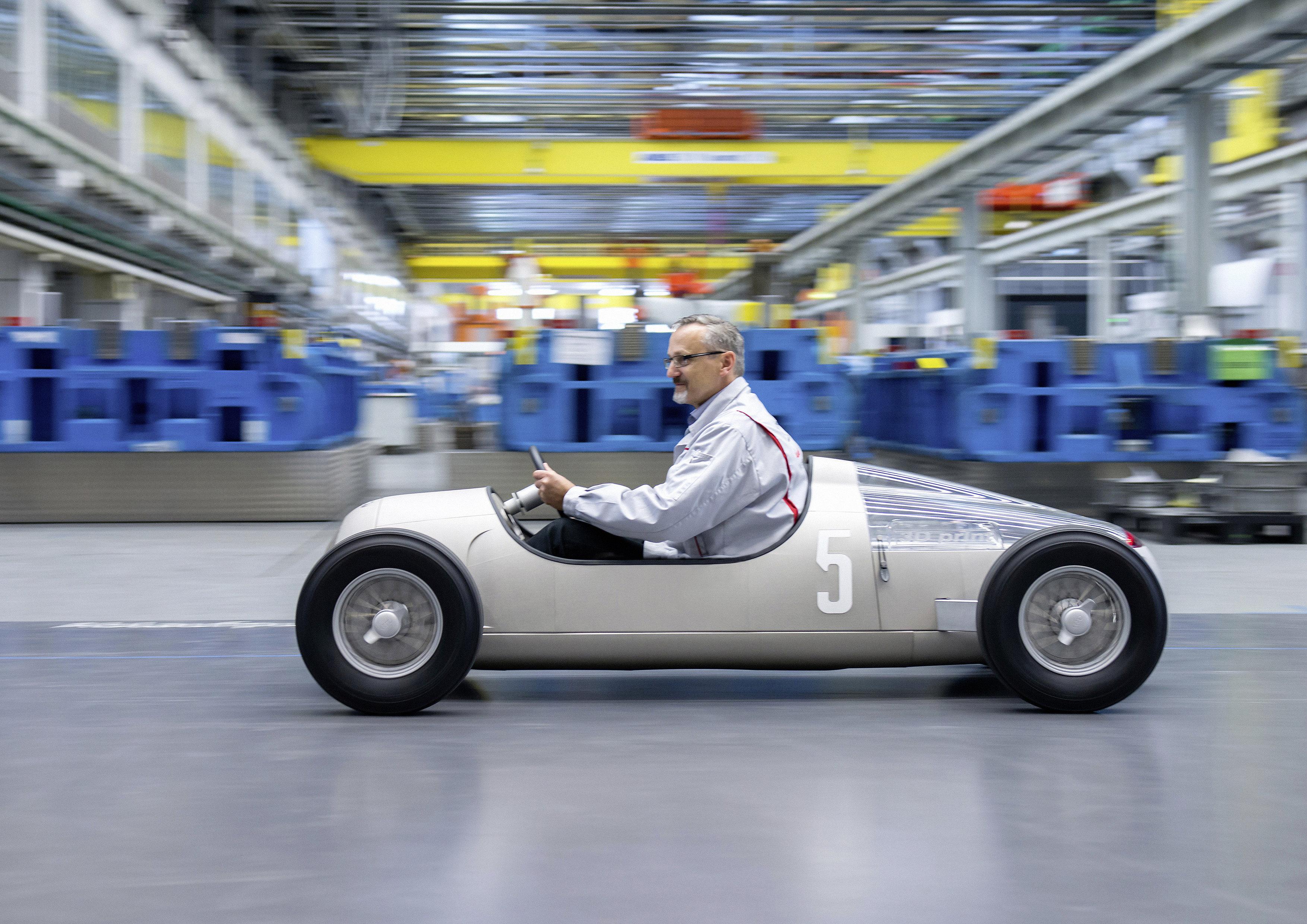 Audi 3D-Prints A Fun Sized Auto Union Race Car