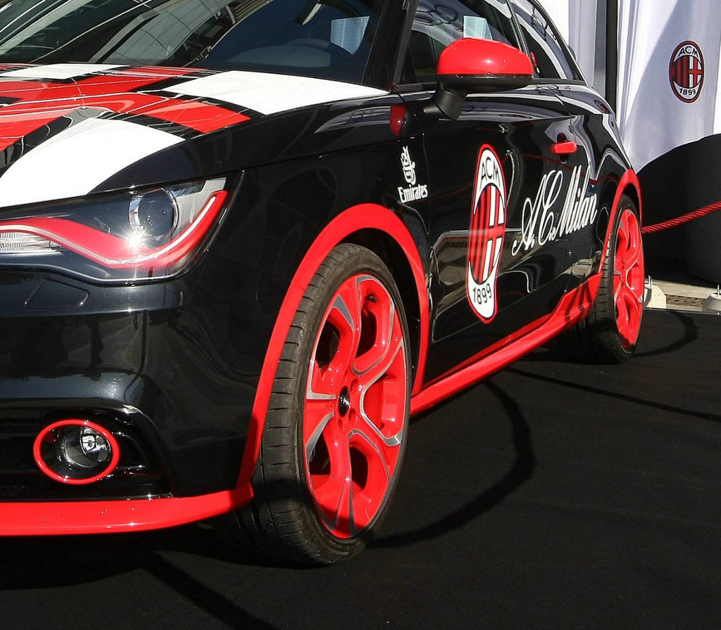audi a1 ac milan presented autoevolution. Black Bedroom Furniture Sets. Home Design Ideas