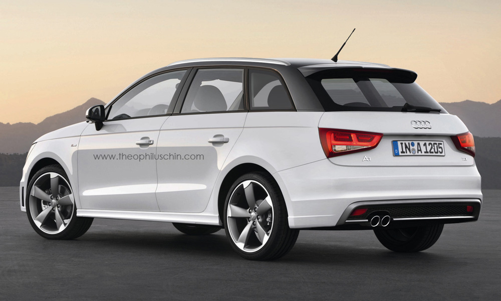 audi a1 avant rendering autoevolution. Black Bedroom Furniture Sets. Home Design Ideas