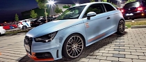 Audi A1 Gets Ice Blue Metallic Wrap [Photo Gallery]