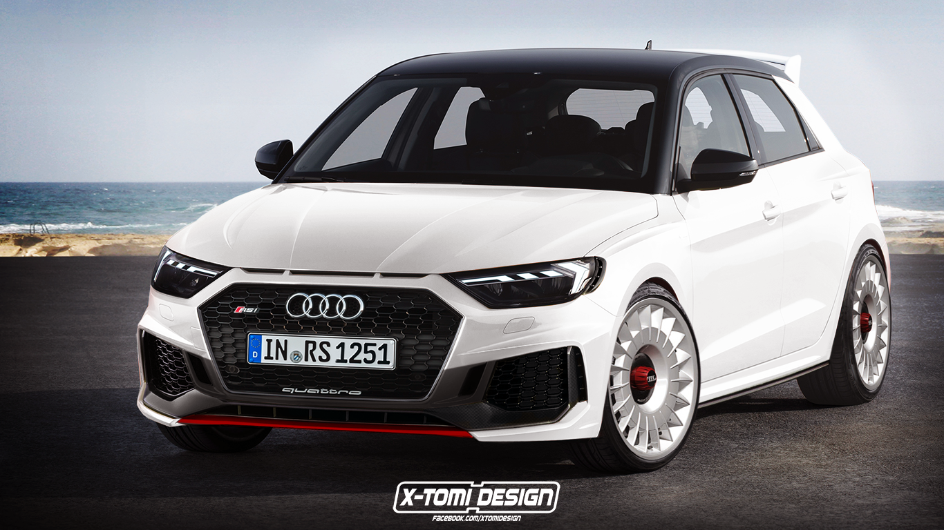 audi a1 gets rs1 and rs1 clubsport quattro renderings autoevolution. Black Bedroom Furniture Sets. Home Design Ideas