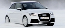 Audi A1 quattro Drifts on Snow [Video]