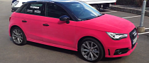 Audi A1 Wrapped in Pink Velvet [Video] [Photo Gallery]