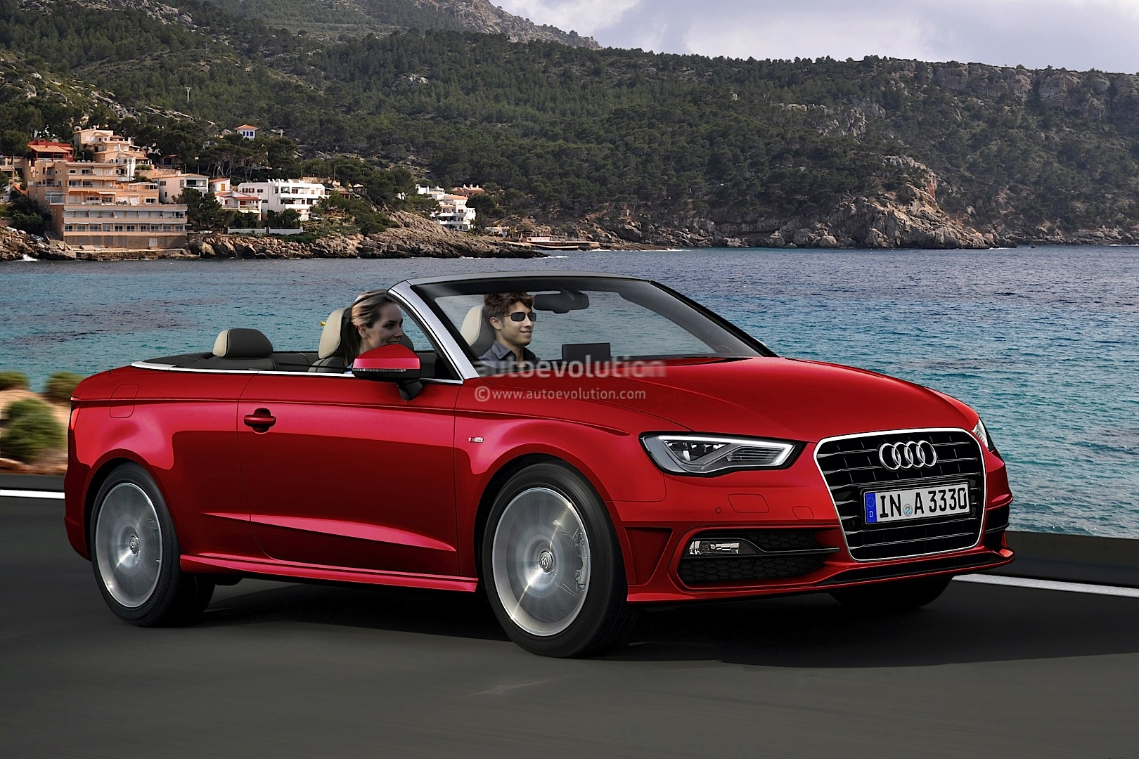new audi a3 cabrio rendering is here autoevolution. Black Bedroom Furniture Sets. Home Design Ideas