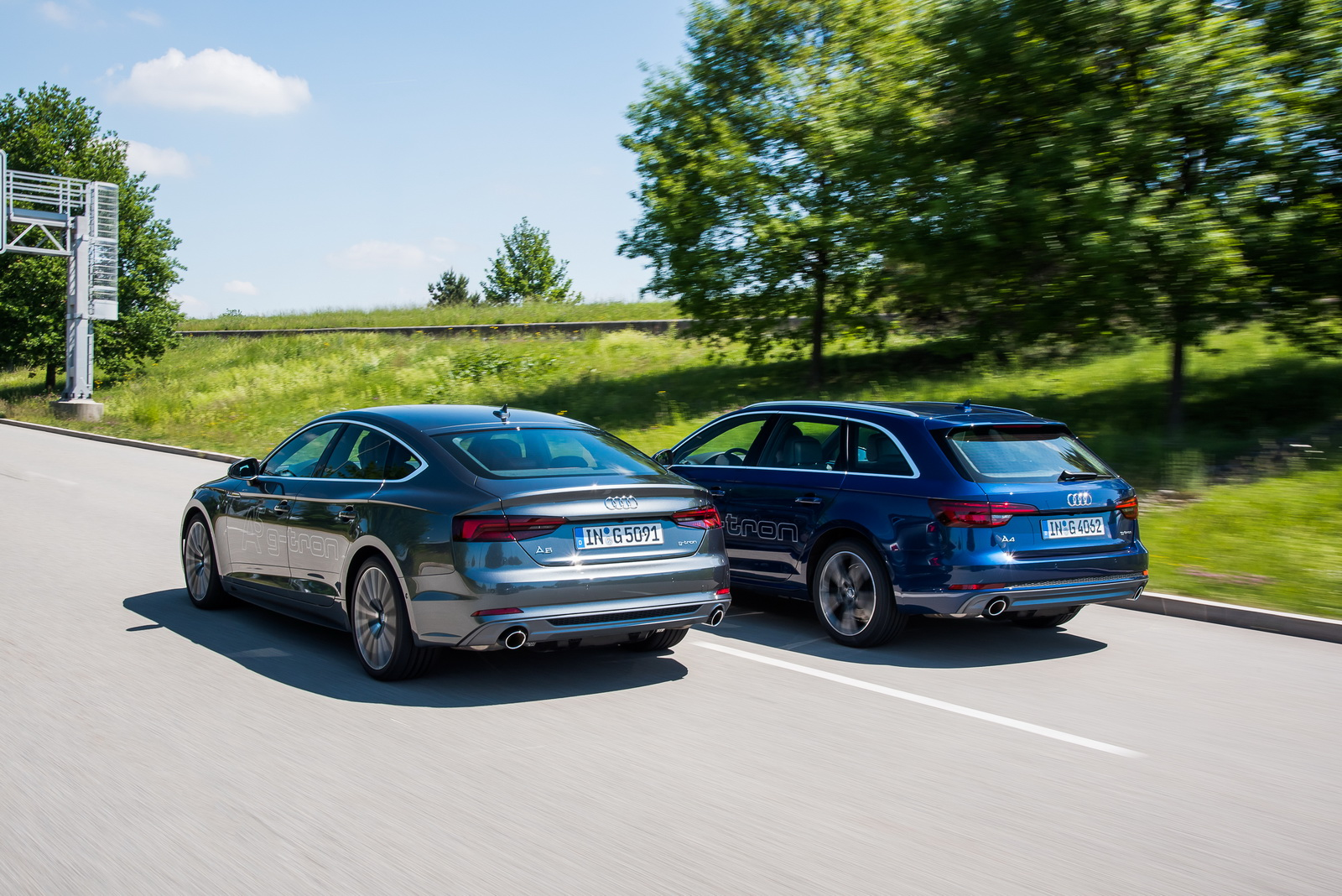 Audi A4 Avant And A5 Sportback G Tron Launched Also Run On Audis E