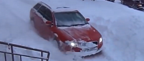 Audi A4 Becomes a quattro Bulldozer in Russia [Video]