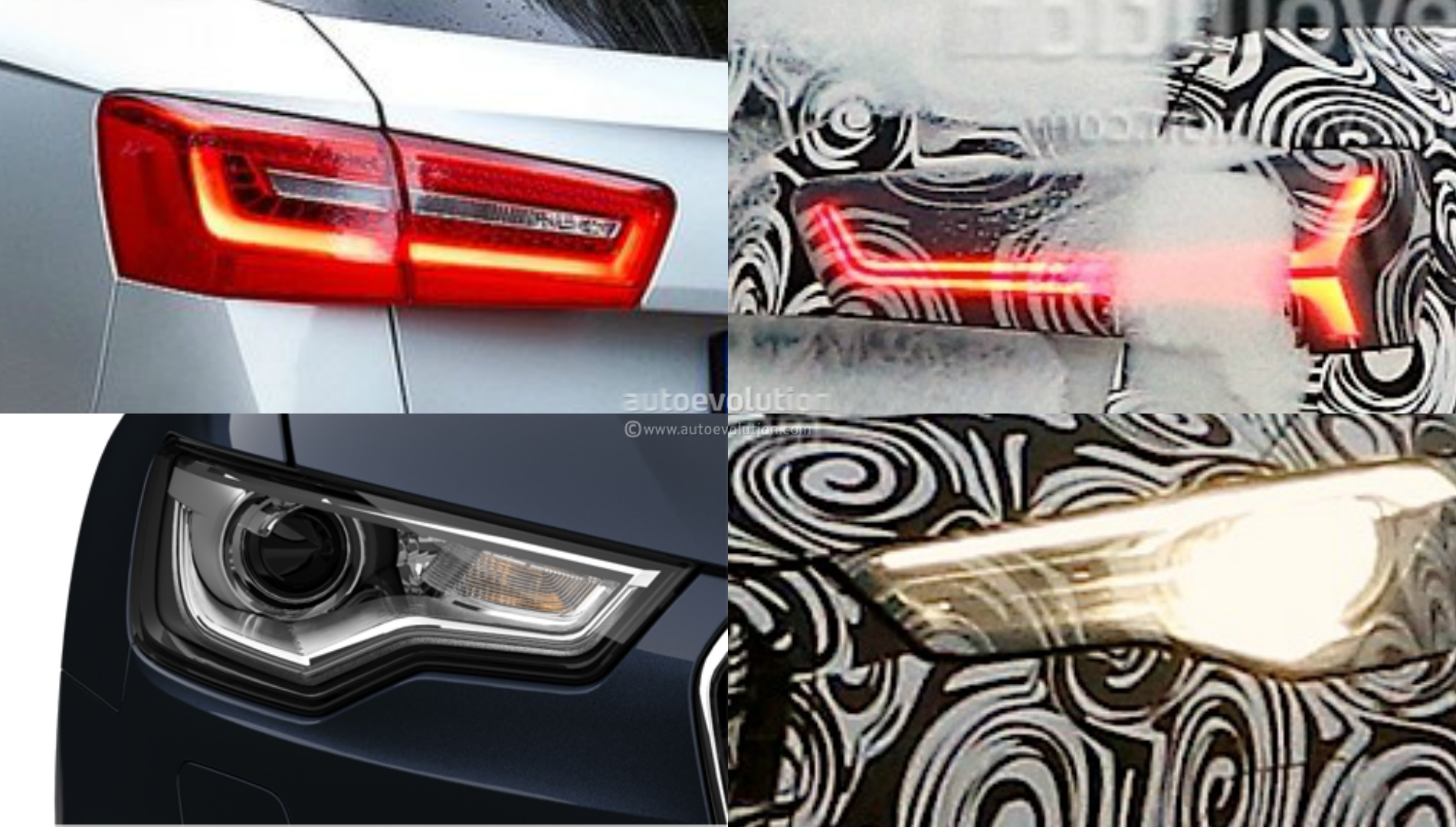 audi     facelift comparison headlights