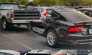 """Audi A7 Barbeque Grill Trailer """"BBQ7"""" Towed by a Truck Is Hilarious"""