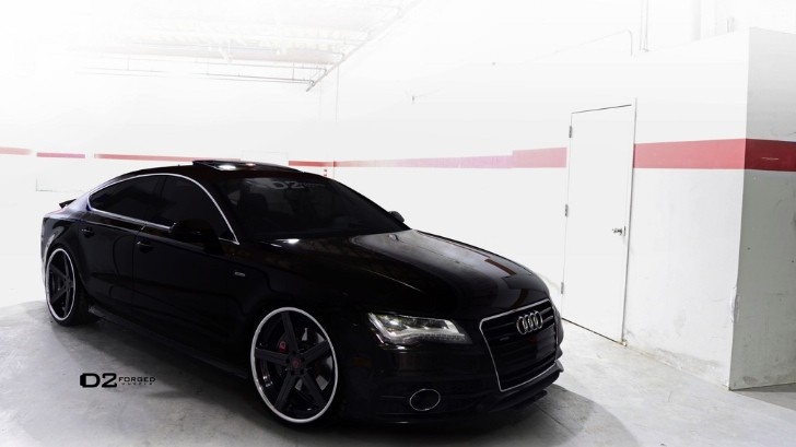 Audi A7 on D2Forged Wheels: Darth Vader's Lounge [Photo Gallery]