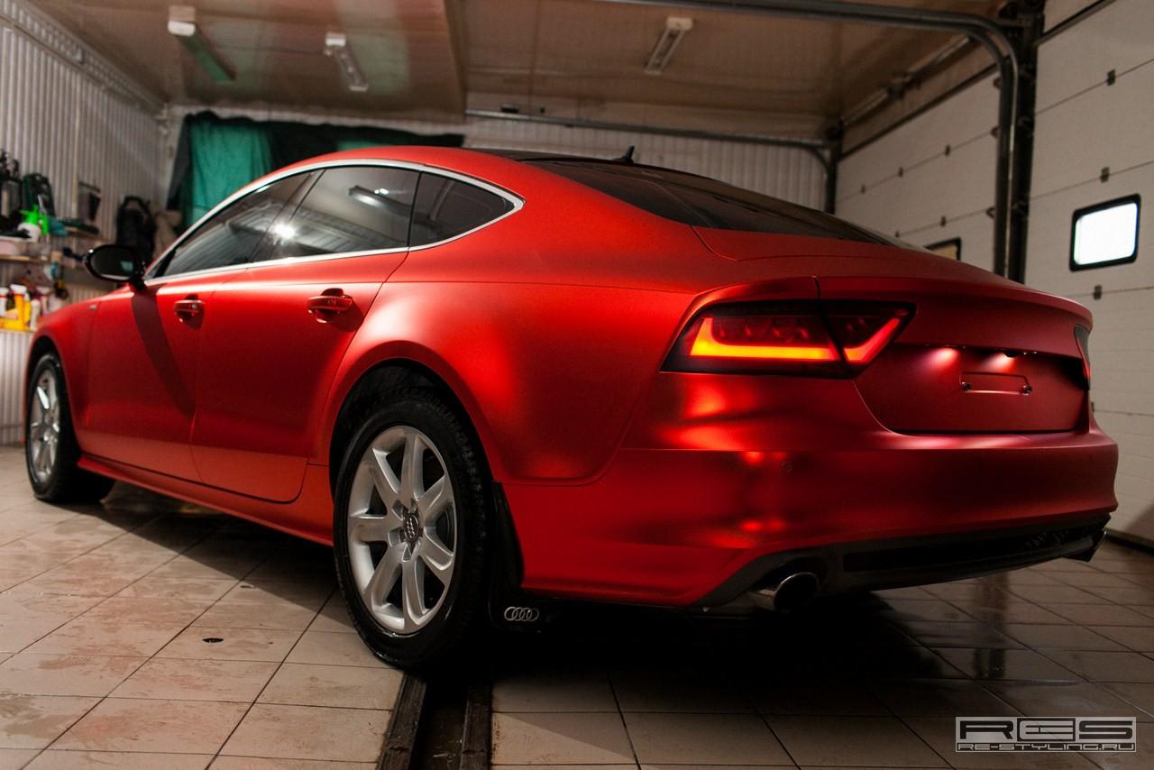 Metallic Red Chrome Car Wraps