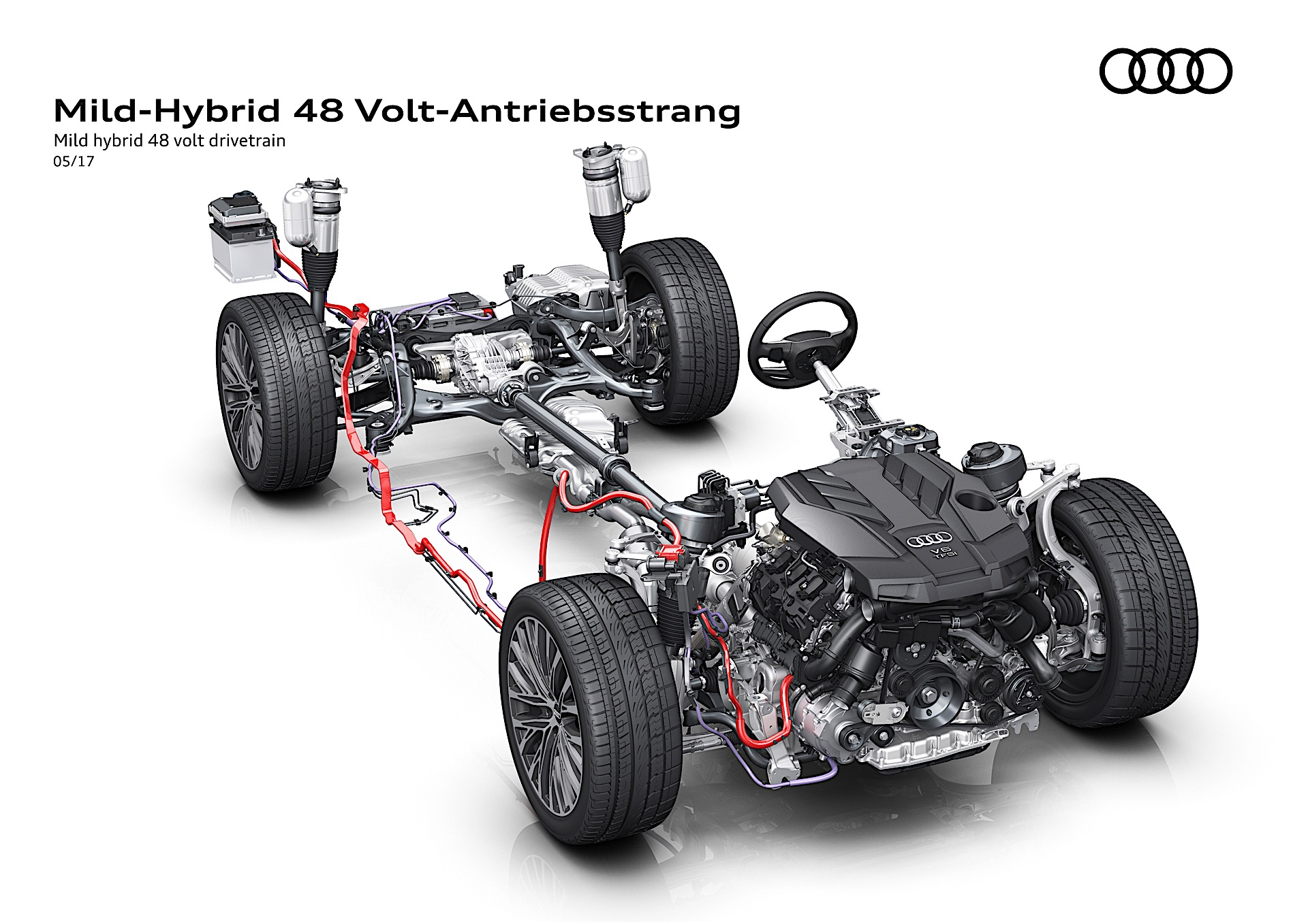 audi a6 engine diagram audi says 2018 a8 can coast at 100 mph thanks to 48v mild
