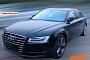 Audi A8 Facelift with Matrix LED Lights Spotted Testing in China