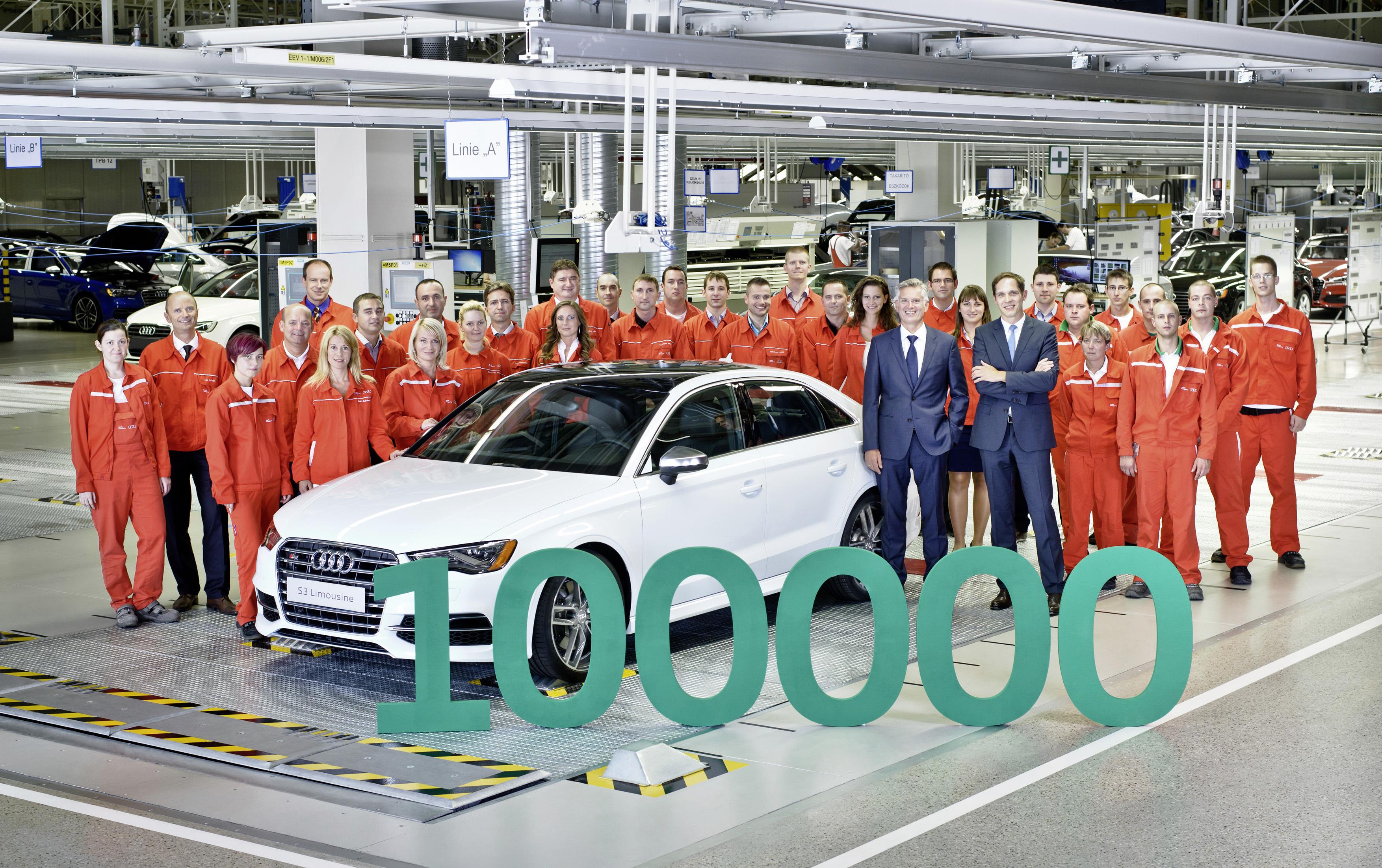 100000-й автомобиль завода Audi в Венгрии, Audi S3