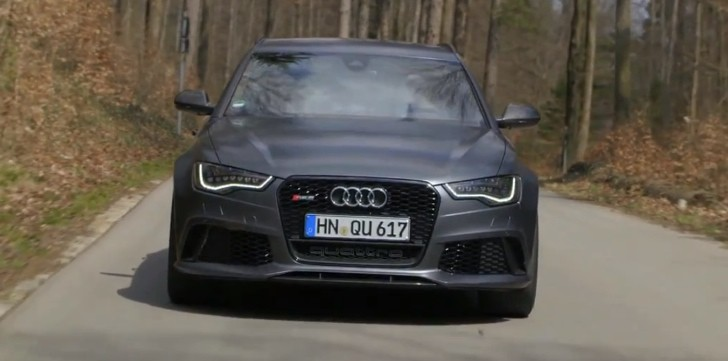 Audi Drives the 560 HP RS6 Avant in Munich [Video]