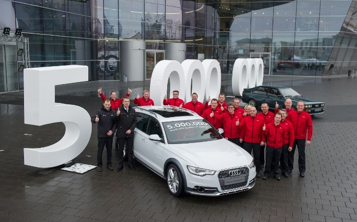Audi Has Built 5 Million Quattro Vehicles