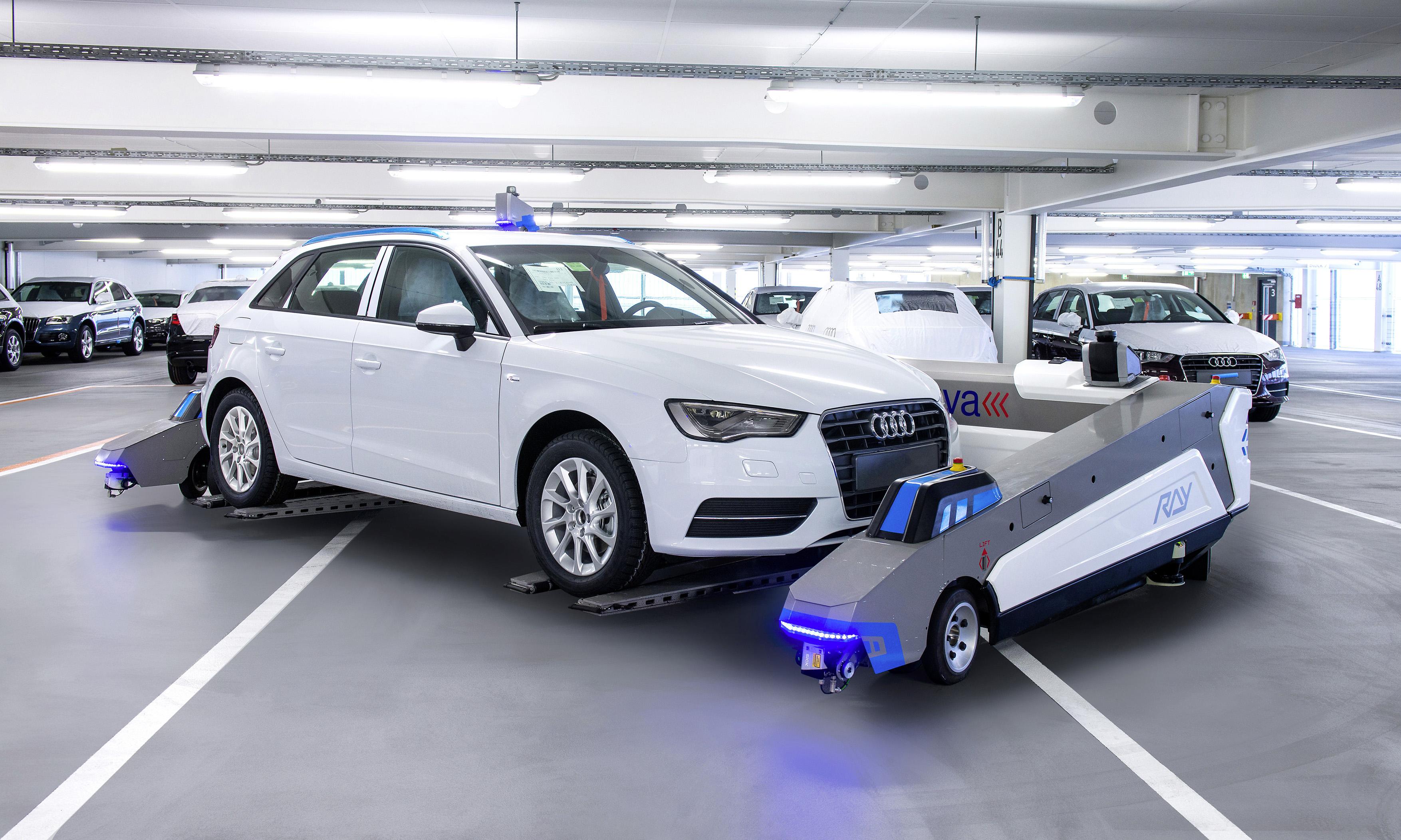 Audi Has SelfDriving Parking Robots Working As Valets Autoevolution - Audi self parking