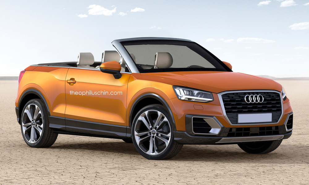 audi q2 cabriolet rendering looks strange yet it might happen autoevolution. Black Bedroom Furniture Sets. Home Design Ideas