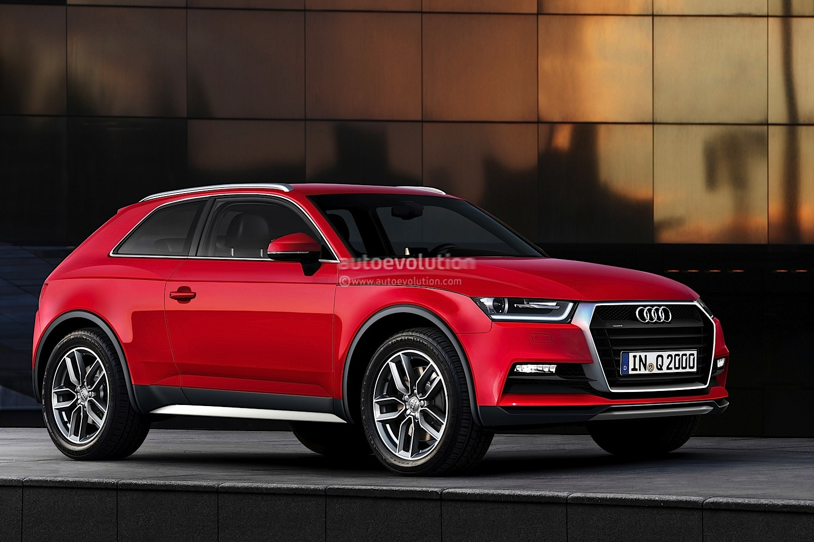 audi q2 rendering released debut expected in 2015. Black Bedroom Furniture Sets. Home Design Ideas