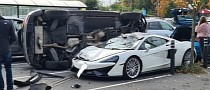 Audi Q5 Runs Over McLaren 570GT in Parking Lot: The Big Guy Always Wins