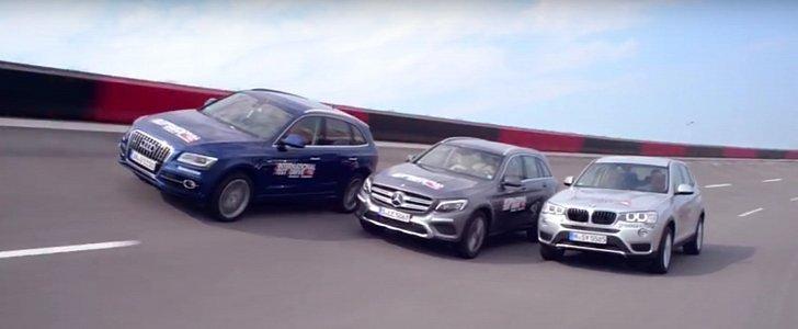 Audi Q5 vs BMW X3 vs Mercedes GLC Comparison Test Shows How Fast