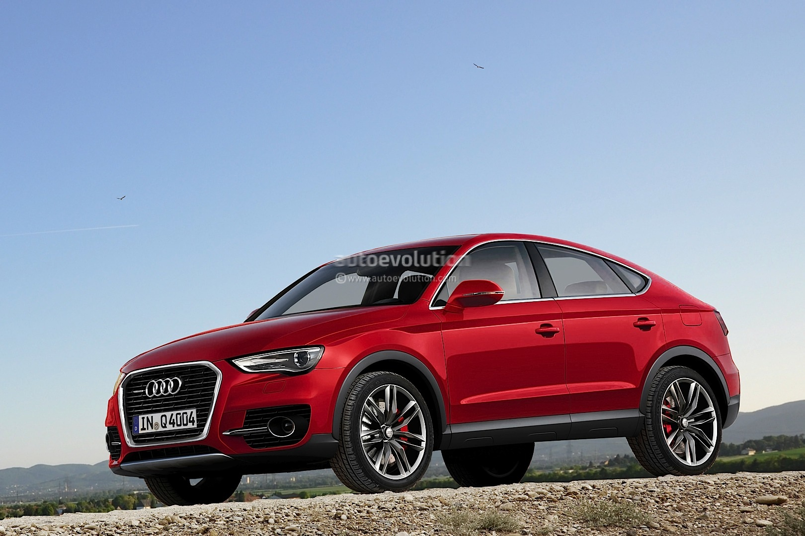audi q6 coupe crossover rendering autoevolution. Black Bedroom Furniture Sets. Home Design Ideas
