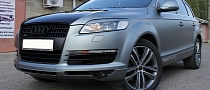 Audi Q7 Wrapped in Frozen Gray