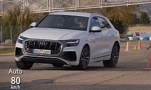 Audi Q8 Aces Moose Test With 79 Kmh Top Speed