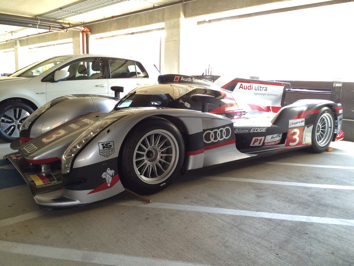 audi r18 ultra le mans racer spotted parked on handicap spot autoevolution. Black Bedroom Furniture Sets. Home Design Ideas