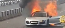Audi R8 Acts Like an Italian Supercar, Catches Fire in Mumbai [Video]