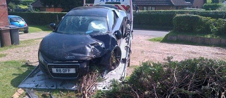 Audi R8 Crashes Through an English Garden