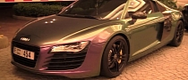 Audi R8 Gets Flip Flop Color in Dubai [Video]