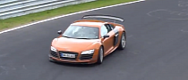 Audi R8 Road-Legal GT3 / GT Facelift Spied Lapping the Nurburgring [Video]