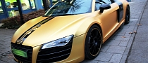 Audi R8 in Matte Gold Dominates Munich [Video] [Photo Gallery]