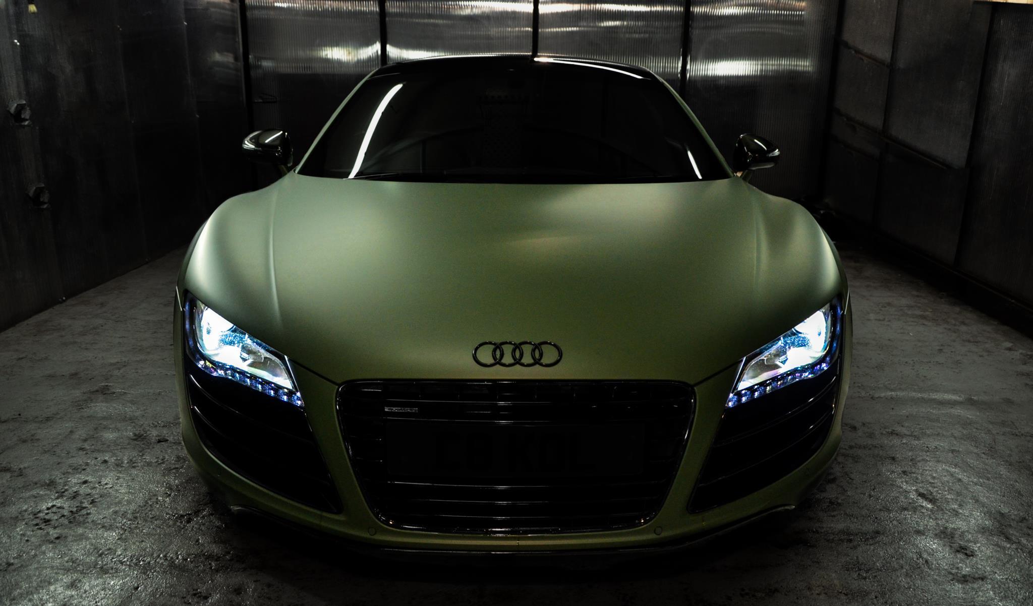 Audi V10 By Hd Car Wallpapers R8 Wallpaper Black Matte