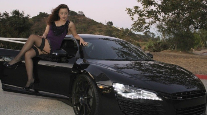 Audi R8 Selling on eBay with Girl on Door! [Photo Gallery]