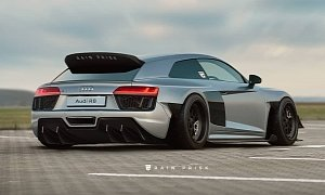 Audi R8 Shooting Brake Rendered as Awesome Race Car